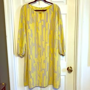 Tahari arthurS. Levine yellow dress
